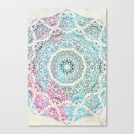 Watercolor Mandala Canvas Print