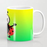 ladybug Mugs featuring Ladybug by Digital-Art