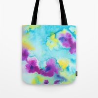 tie dye Tote Bags featuring Tie-Dye by Tatiana Shaffer