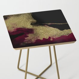 Black Honey - resin abstract painting Side Table