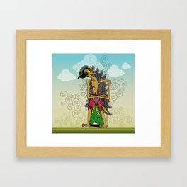 Wayang Arjuna Framed Art Print