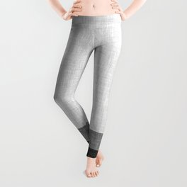 Black and White Graphic Burlap Pattern Stripe Leggings