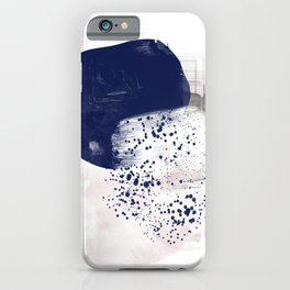 Beach Day 5 blue and pink painting iPhone Case