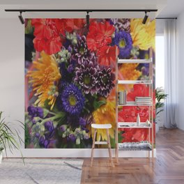 red geraniums flowers floral bouquet Wall Mural