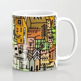Doodle Crazy village town illustration Autumn  Coffee Mug