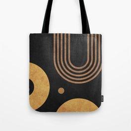 Transitions - Black 03 - Minimal Geometric Abstract Tote Bag