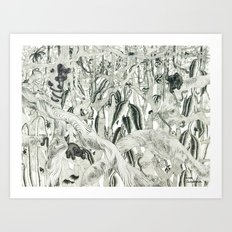 Jungle Scene Art Print