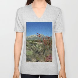 Desert Bloom Unisex V-Neck