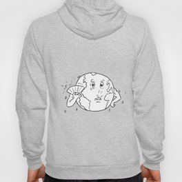 Earth Global Warming Drawing Black and White Hoody