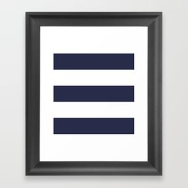 NAVY & WHITE STRIPE Framed Art Print
