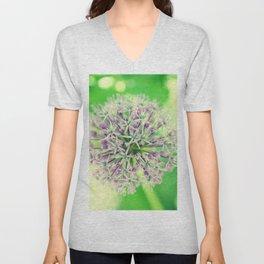 Allium christophii Unisex V-Neck