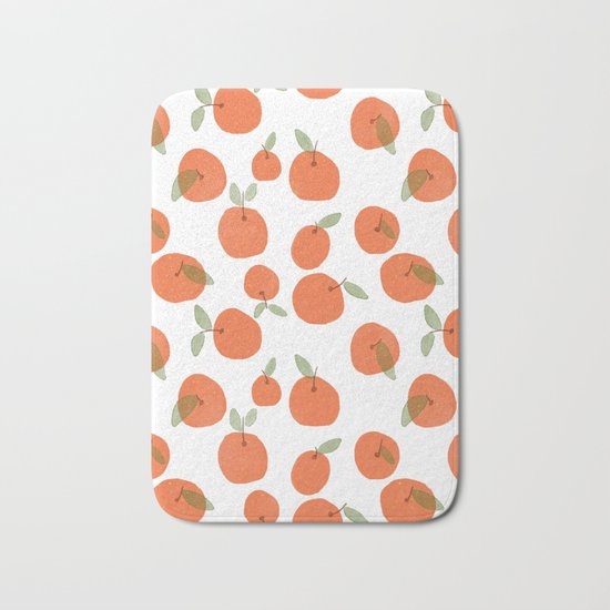 Oranges Pattern Bath Mat