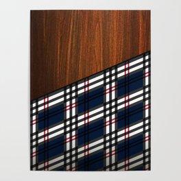 Wooden Scottish Tartan Poster