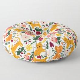 Valentine Cats Floor Pillow