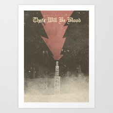 There will be blood - Alternative Movie Poster, Daniel Day Lewis, Paul Thomas Anderson, Paul Dano Art Print