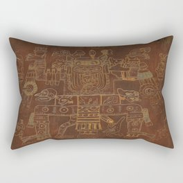 The Gods Inca Americana Tribal Rectangular Pillow
