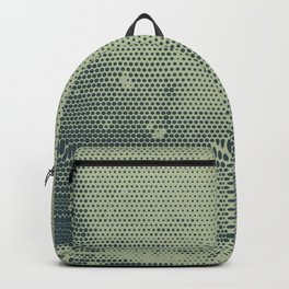 Grunge Delight Sepia Halftone Backpack