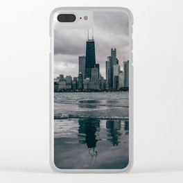 Chicago Black & White Clear iPhone Case