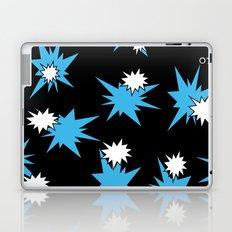 Stars (Blue & White on Black) Laptop & iPad Skin