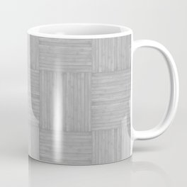 Silver Gray Faux Bois Wood Pattern Coffee Mug