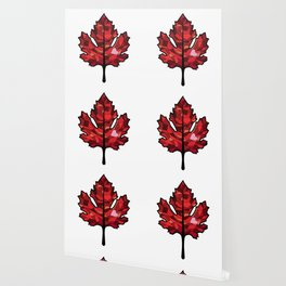 A Maple Leaf with Heart Wallpaper