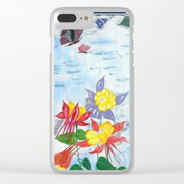 Flowers and butterflies Clear iPhone Case