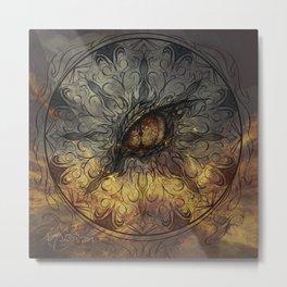 Dragon Mandala Metal Print