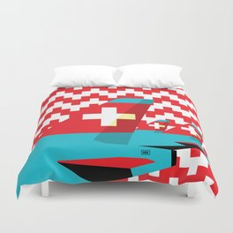 Switzerland by Air Duvet Cover
