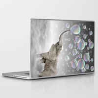 dreams Laptop & iPad Skins featuring The Simple Things Are the Most Extraordinary (Elephant-Size Dreams) by soaring anchor designs