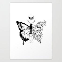 Flower Morphosis Art Print