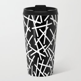 Kerplunk Black and White Travel Mug