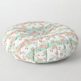 Candy Cane Reindeer Floor Pillow
