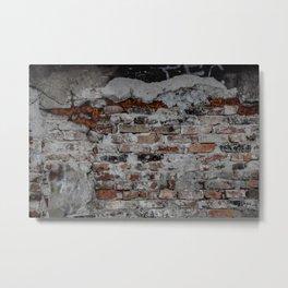 Factory Industrial brick wall Metal Print