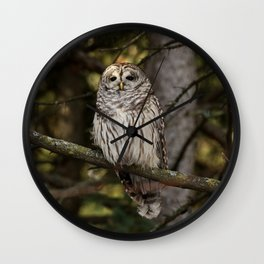 Marbled eyed beauty Wall Clock