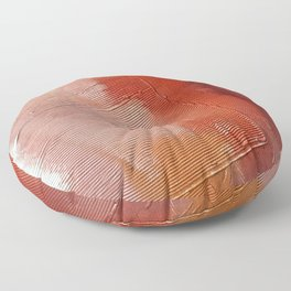 Desert Journey [1]: a textured, abstract piece in pinks, reds, and white by Alyssa Hamilton Art Floor Pillow