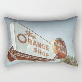Orange Shop Rectangular Pillow