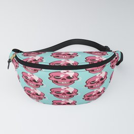 Cute Skull With Spider And Ghosts In Eye Sockets Fanny Pack