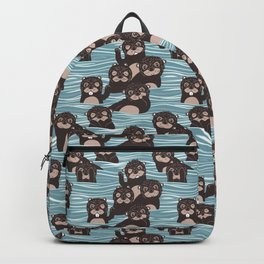Otters dazzling the audience Backpack