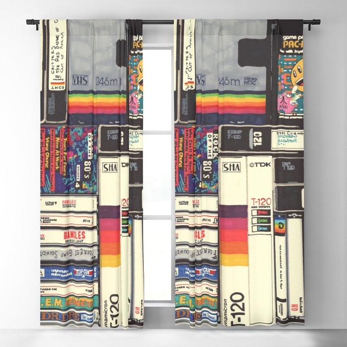 Cassettes, VHS & Games Blackout Curtain