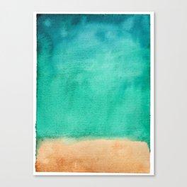 Beach Summer Breeze // Azure Sand Gold Palette Canvas Print