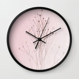 Rose Gold Twigs Wall Clock