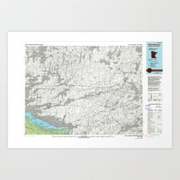 MN Brule Narrows 508768 1978 topographic map Art Print