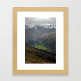 Sertig Valley Framed Art Print