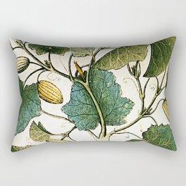 Leaves & Flowers Rectangular Pillow