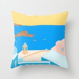 In Greece Throw Pillow