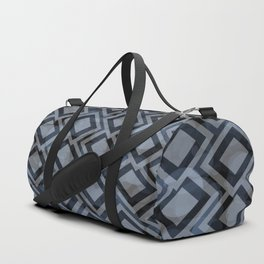 Black and White Squares Pattern 08 Duffle Bag