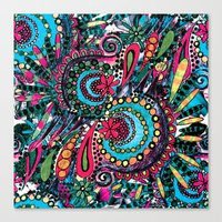 paisley Canvas Prints featuring Paisley by Lara Gurney
