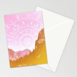 Boho Hipster Mandala Landscape Stationery Cards