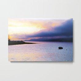 Evening view over Loch Lhinne Metal Print