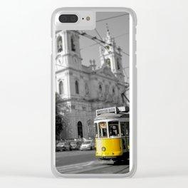 Lisbon Tram 28 Clear iPhone Case